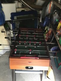 Free standing BCE football table.