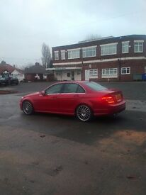 "Full mercedes service history, 19"" alloys, sunroof, sat nav, blk leather,"