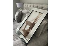 Large mirror picture frame