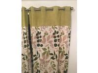 Green leaf full length dunelm curtains