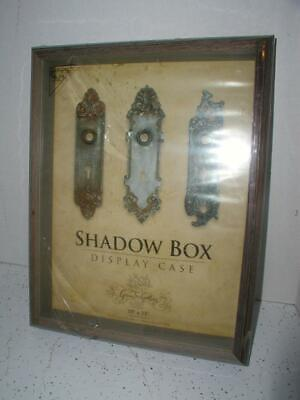 Green Tree Gallery Shadow Box Display Case wood & Glass 10 x 13 NEW Glass Wood Shadow Box