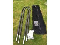 Trampoline poles and netting-unused