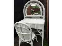Girls wicker antique dressing table