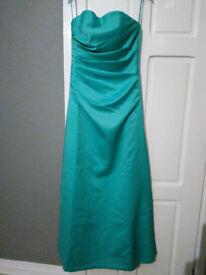 Linzi Jay Strapless Satin Dress (Size 6-8)
