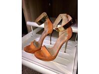 Orange topshop heels size 6