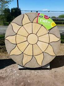 AURORA CIRCLE 1.8M DIAMETER PATIO PAVING FEATURE KIT ONLY £169.99