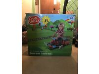 Ride on train and track set