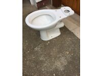 Toilet pan, white, new. Excellent condition. Bargin!