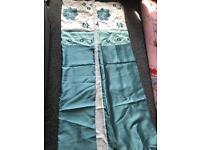 Pair of Curtains 2 x tie backs 1 x cushion cover