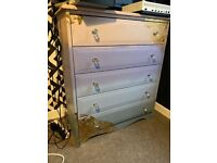 One of a kind little girls chest of drawers