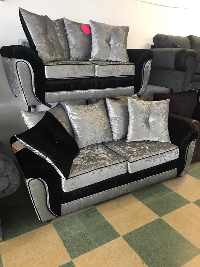 Velvet 3 and 2 sofa