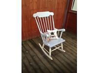 Hand painted pine rocking chair, bargain can deliver