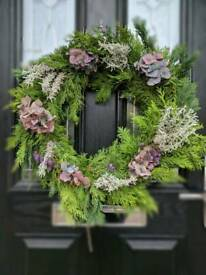 Handmade natural Christmas wreath