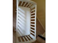 White gliding crib for sale
