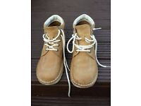 Men's Kickers Boots - Stone Suede - Size 9