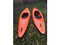 2x Dagger Kayaks for sale (1x RPM model and 1x Infrared model)