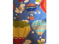 Flying High Cobalt Curtains (Custom made by John Lewis) with black out lining
