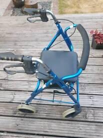 4 wheel walking frame with seat