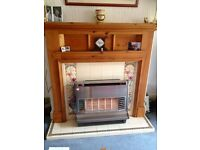 Handsome 1930's Pine Fire Surrond