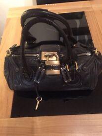 Chloé black leather genuine Paddington bag
