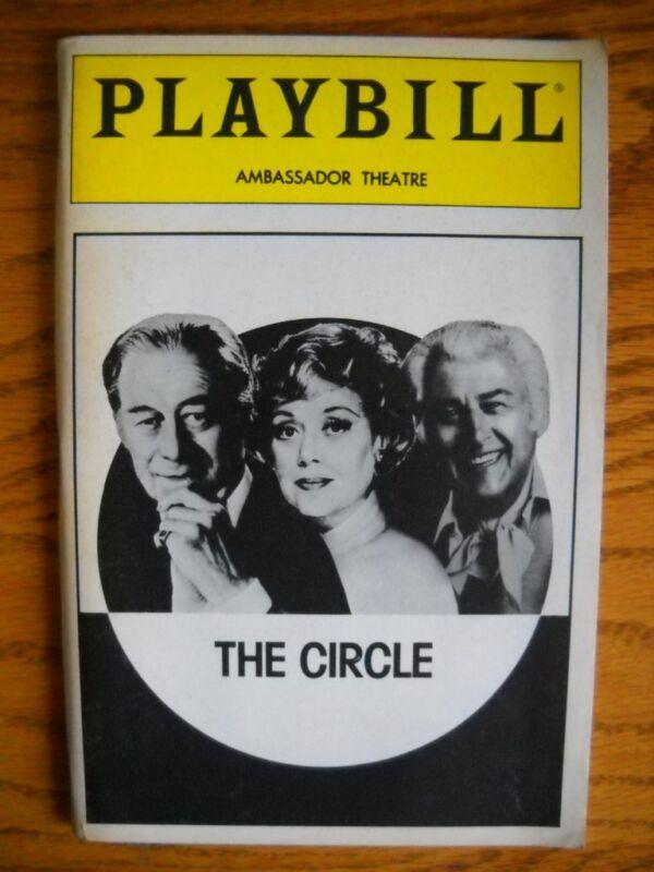 Playbill  The Circle  Roma Downey   Rex Harrison  Stewart Granger  Glynis Johns