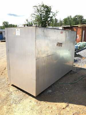 Stainless Steel Jacketed 1000 Gallon Holding Tank 38x65x95 W 4 Thick Walls