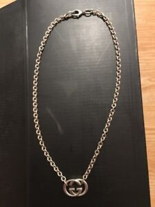 Gucci Britt double G sterling silver necklace