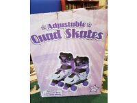 Quad Skates for child age 5-7 years old, size: XS 29-32