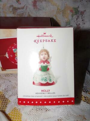 Holly 2015 Hallmark HEAVENLY BELLES Christmas Ornament 3rd Porcelain Angel Bell ()