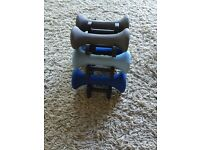 Great condition Hand weights 1kg, 1.5kg and 2kg.