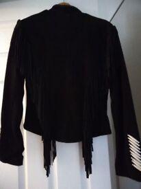 Suede fringed jacket New