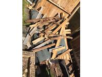 Wood from shed to be taken away