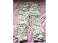 Abercrombie girls floral jeans age 16