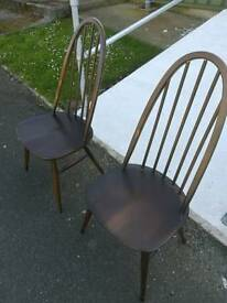 Pair of Windsor ercol chairs