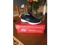 Skechers GoWalk 4 - Glorify - Navy / Teal - Women's Size 5UK