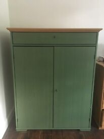 Large Green Wooden Cabinet