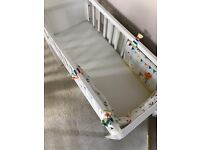 Crib wooden ex-mothercare