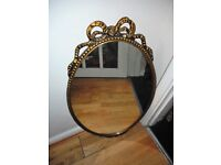 vintage metal framed wall mirrorvintage metal framed wall mirror in very good condition