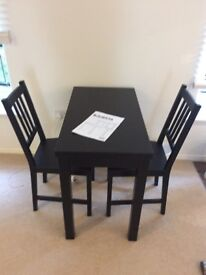 IKEA BJURSTA EXTENDABLE DINING TABLE & 2 CHAIRS