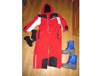 Nevica Boys / Girls all in one snow suit age 5-6 years - worn once plus extras.