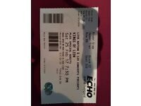 Kings of leon ticket liverpool echo arena 25th of February 2017