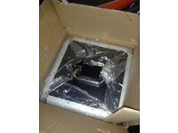"""12"""" Black & Chrome Vinyl flight case (Holds 100) Brand New Boxed"""
