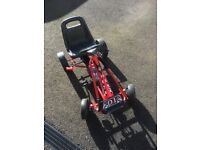 Red go cart