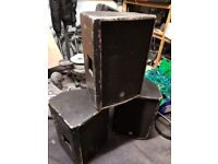"""LD Systems Eminence Professional PA Speakers Active X3 Job Lot LPE122 12"""" 350w"""