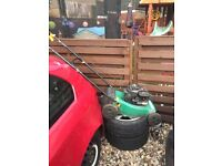 Lawnmower and strimmers
