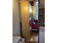 Large IKEA Mirror & Wood Wardrobe
