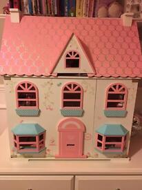 ELC Rosebud Cottage dolls house and all rooms