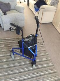 Three Wheel Rollator with detachable bag - mobility walker