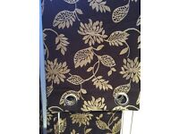 Ready Made Fully Lined Eyelet Curtains 66x72 Drop