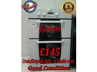 Double Oven Eye-level Electric Hotpoint Creda White